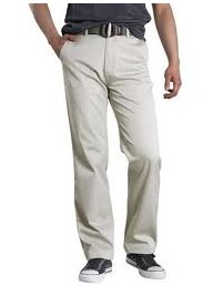 %Men clothes khaki pants pocket