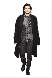 %Men clothes Winter cascade collocation show modern